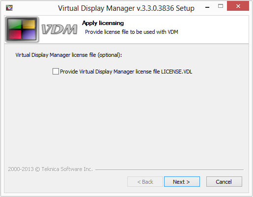 VDM_LICENSE_OPTION